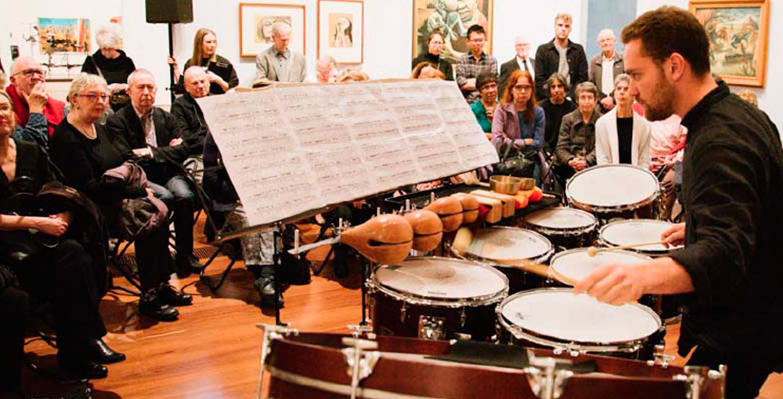 ANAM Percussionist Mat Levy performs at NGV Australia
